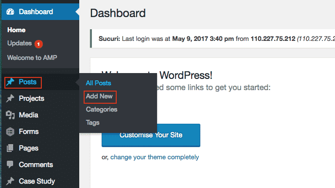 WordPress Posts - Add A New Post