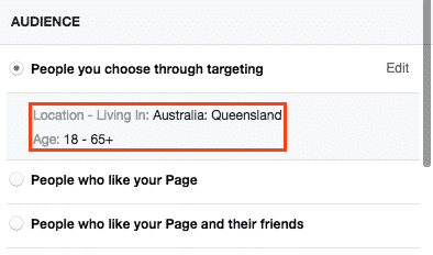 Boosting posts on Facebook: Choose your target audience