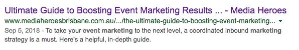 Your meta description boost your SEO click through rate