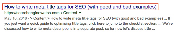 A well-crafted meta titles can increase CTR