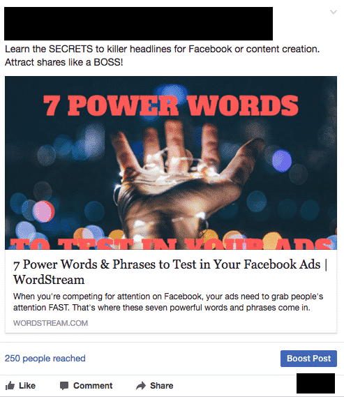 Boosting posts on Facebook: Ways To Post An Article on Facebook