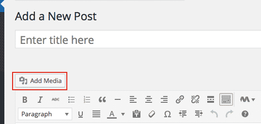 WordPress Posts - Add Media