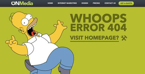 Custom 404 error pages - web design & development