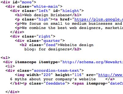 HTML code - web design & development