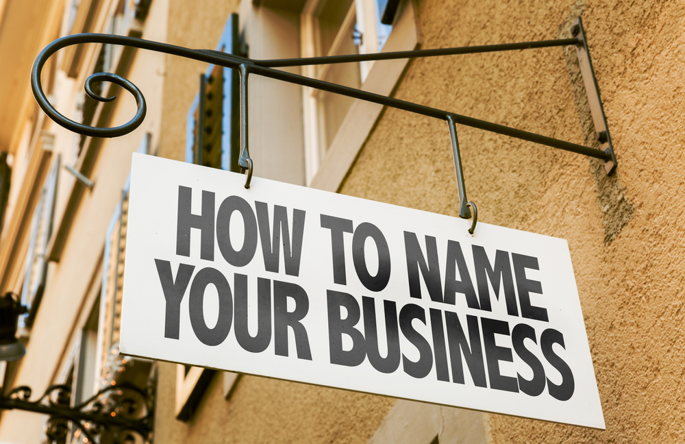 How to come up with a business name sign